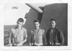 3 Crewmen on deck