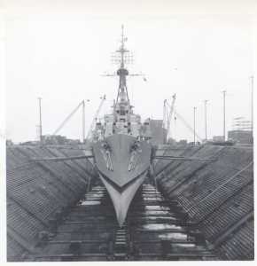 Bow View in Dry Dock
