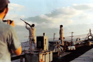 Small Arms fire from Forecastle2 Nov 1971_jpg