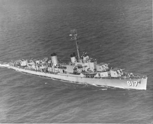 USS Corry at sea