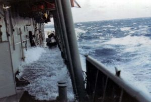 Water on the main deck 1971_jpg